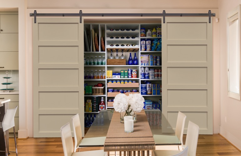 Sliding Barn Doors On A Jacksonville Pantry