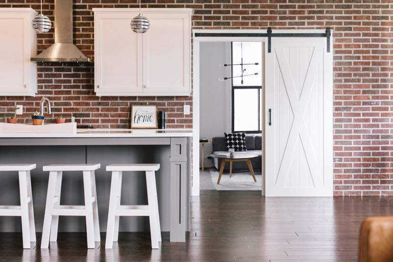 Jacksonville modern kitchen barn door