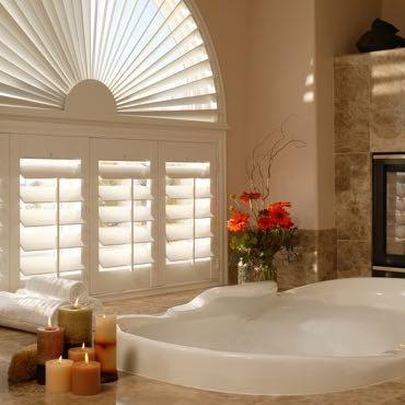 Jacksonville bathroom plantation shutters.