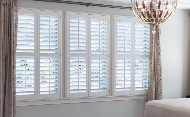Jacksonville plantation shutters master bedroom