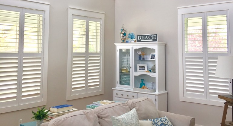 Jacksonville FL shutters in living room