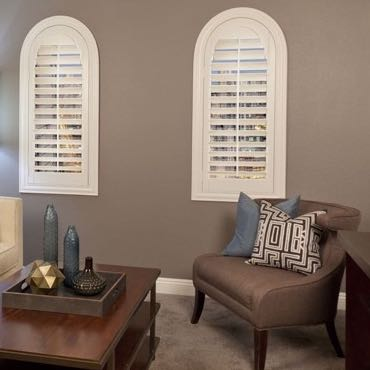 Jacksonville family room interior shutters.