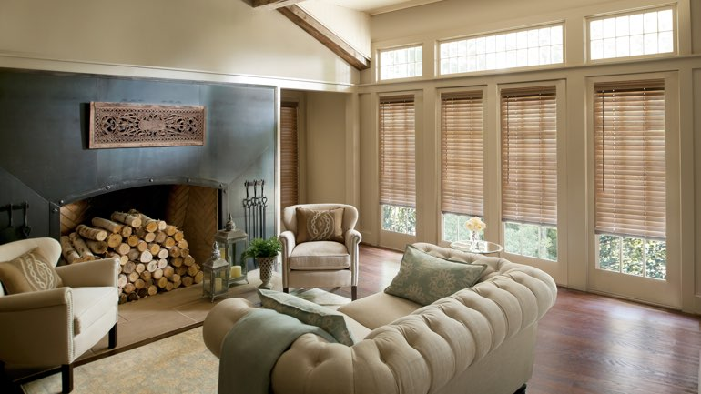 Jacksonville fireplace with blinds