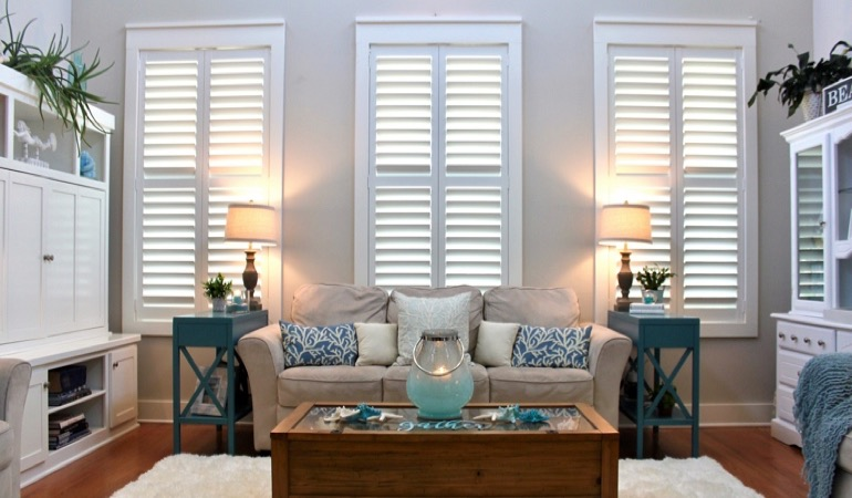 Jacksonville designer house with white shutters