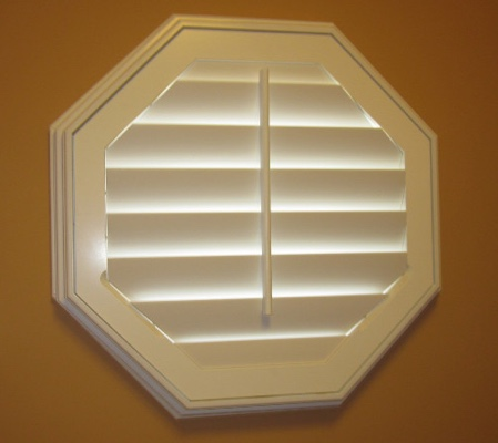 Jacksonville octagon window with white shutter