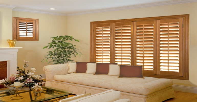 wood shutters Jacksonville sunroom