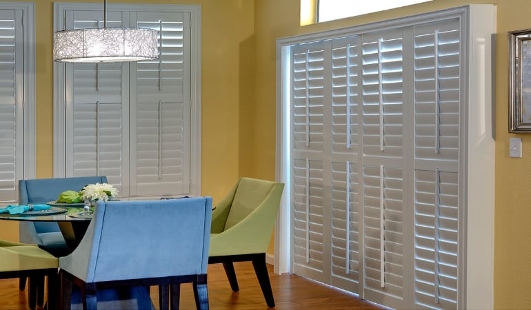 Patio Doors with Plantation Shutters in Jacksonville