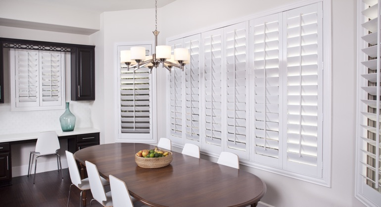 classic shutters in Jacksonville kitchen