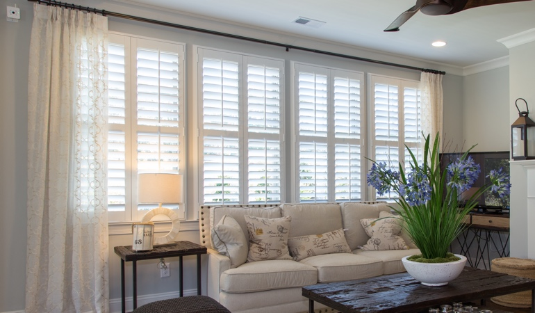 Interior Shutters in Jacksonville Living Room