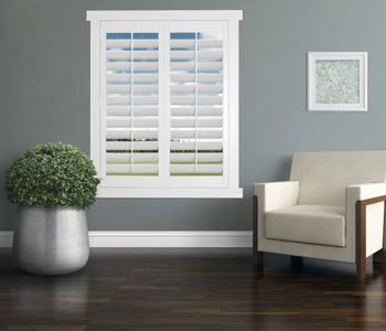 Polywood Shutters in Jacksonville living room