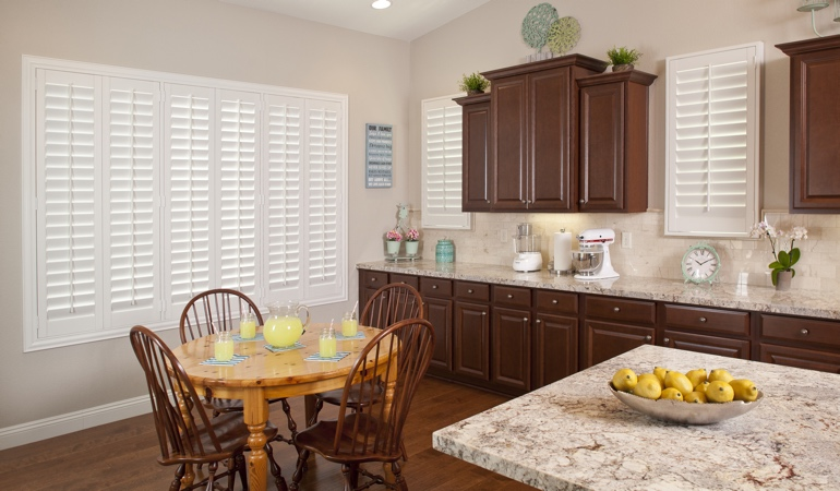 Polywood Shutters in Jacksonville kitchen