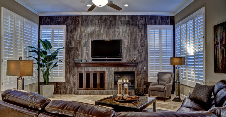 Jacksonville living room with shutters