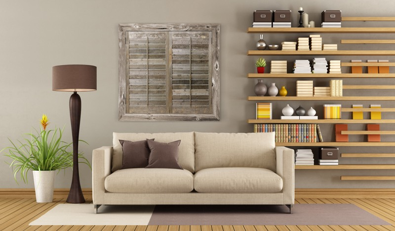 Reclaimed Wood Shutters In A Jacksonville Home - 8 Ways To Use Reclaimed Wood In Your Jacksonville Home Sunburst