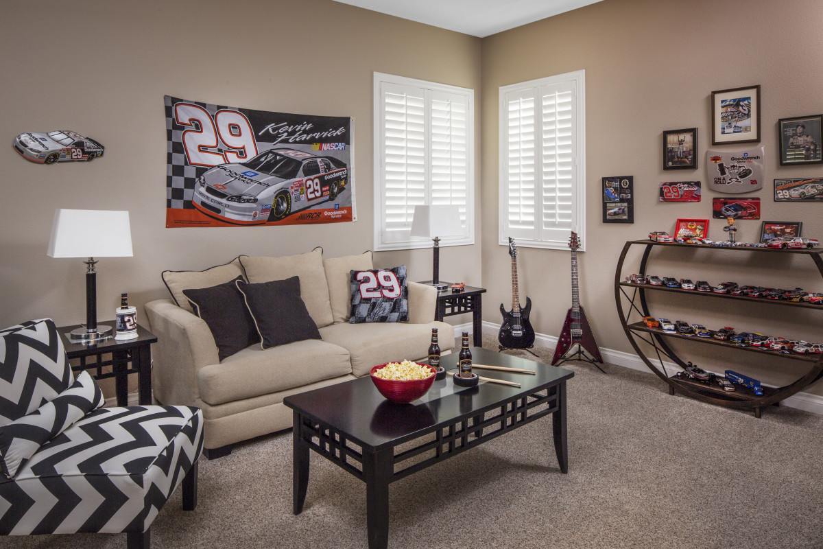 Jacksonville man cave with shutters