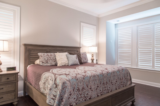 Jacksonville bedroom with light block shutters
