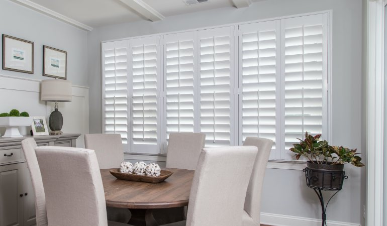 shutters in Jacksonville living room
