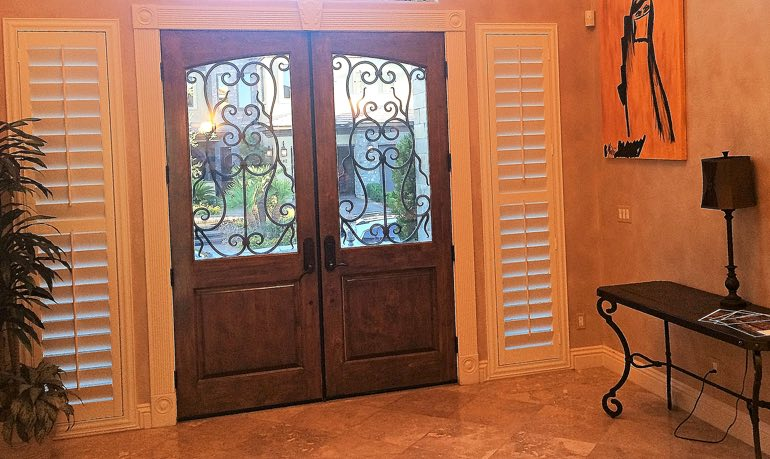 Jacksonville foyer door with shutters