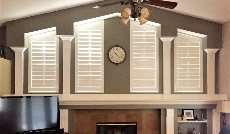 Polywood Shutters in Family Room in Jacksonville