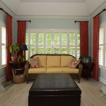 Jacksonville sunroom plantation shutters.