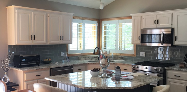 Jacksonville kitchen with shutters and appliances