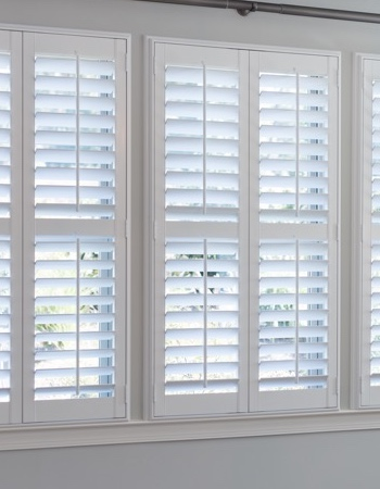 Hidden tilt rod shutters on Jacksonville windows