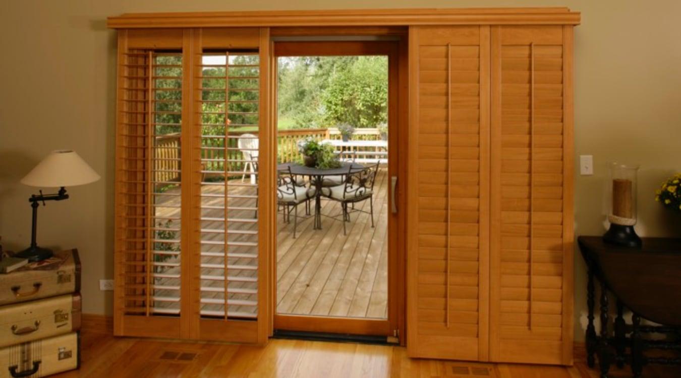 Sliding glass door shutters in jacksonville sunburst shutters bypass shutters for jacksonville sliding glass doors planetlyrics Gallery