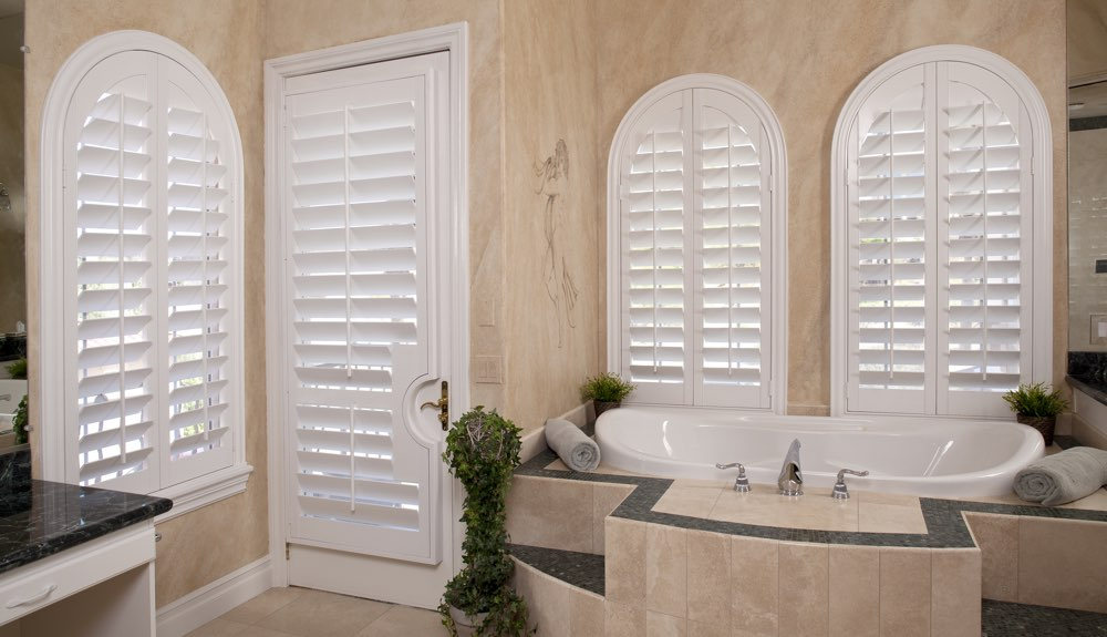 Arched Shutters In A Jacksonville Bathroom