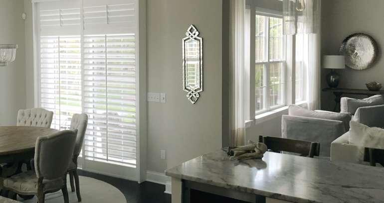 Jacksonville kitchen patio door shutters