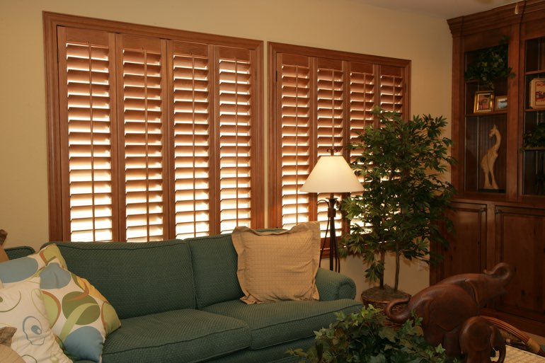 Ovation Shutters In A Jacksonville Living Room.
