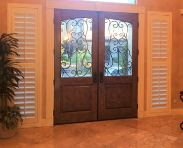 Sidelight Windows. Jacksonville French Door Shutters