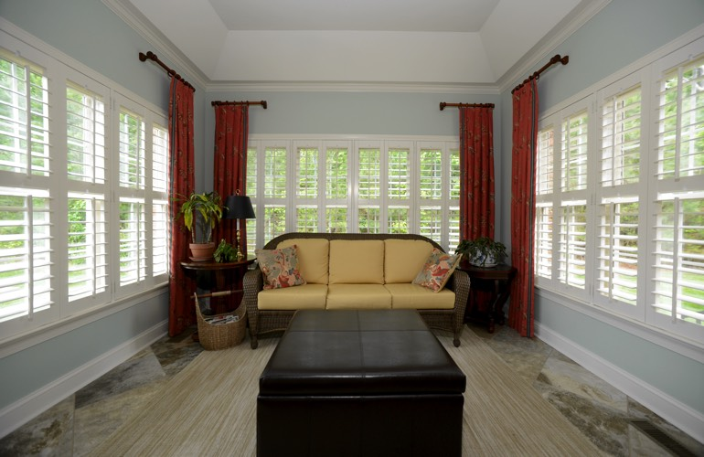 Plantation Shutters In A Jacksonville Sunroom